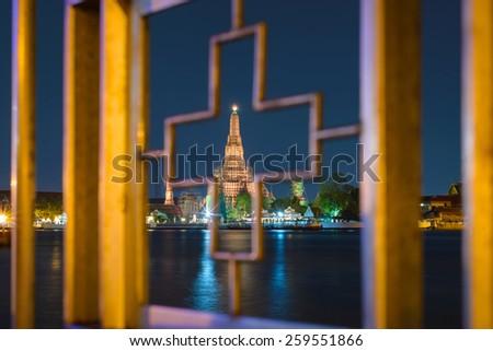 Wat Arun or Temple of Dawn, Bangkok, Thailand - stock photo
