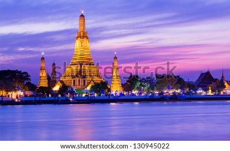 Wat Arun Temple in Bangkok,Thailand - stock photo
