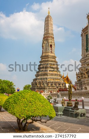Wat Arun (Temple of Dawn), Bangkok, Thailand - stock photo