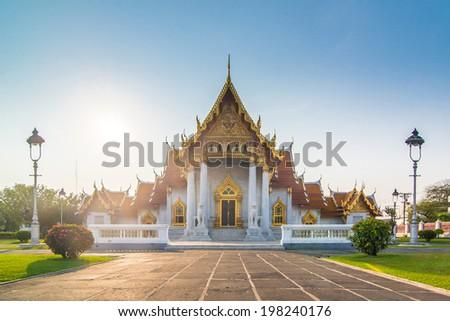 Wat Benjamabophit in Bangkok  - stock photo