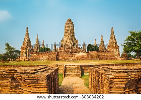 Wat Chaiwatthanaram. Ayutthaya historical park.  - stock photo