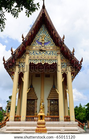 Wat Chalong. Thailand Phuket - stock photo