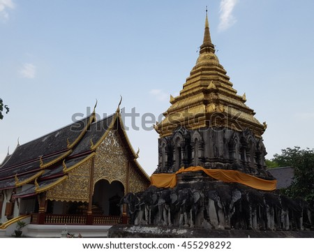 Wat Chiang Man, a famous Temple in Chiang Mai, Thailand