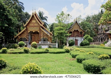 Wat Chiang Man temple in Chiang Mai, Thailand - stock photo