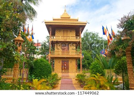 Wat Dam Nak,siem reap ,Cambodia - stock photo