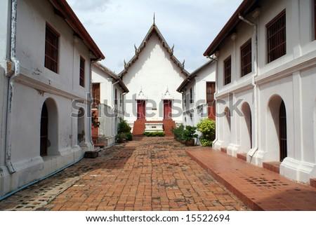 WAt in Phra Narai Rachanivej - stock photo