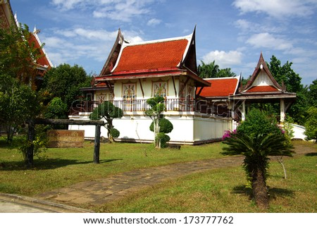 Wat Kaeo Manee Si Mahathat in the province of Phang Nga, Thailand