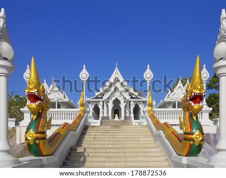 Wat Kaew Korawaram Temple  in Krabi, Thailand - stock photo