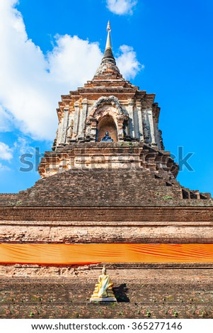 Wat Lok Molee is a Buddhist temple in Chiang Mai, northern Thailand - stock photo