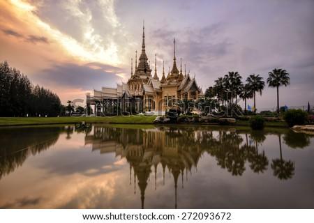 Wat Non Kum Temple in bangkok thailand . - stock photo