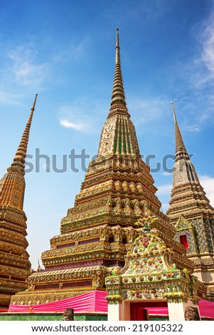 Wat Pho is a Buddhist temple in Bangkok. Thailand - stock photo