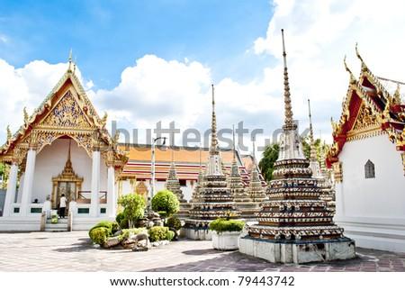Wat Pho Temple at Thialand - stock photo