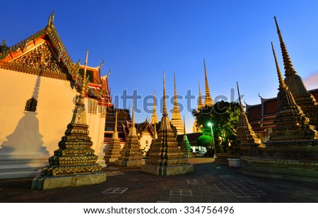 Wat Pho Temple in Bangkok, Thailand. - stock photo