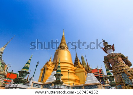 Wat Phra Kaew, Grand Palace, Bangkok, Thailand - stock photo