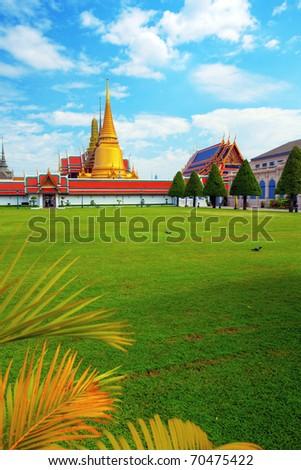 Wat Phra Kaew (Temple of the Emerald Buddha), Bangkok Thailand. - stock photo