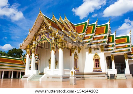 Wat  Phra Si Mahathat Woramahawihan in Bangkok of Thailand  - stock photo