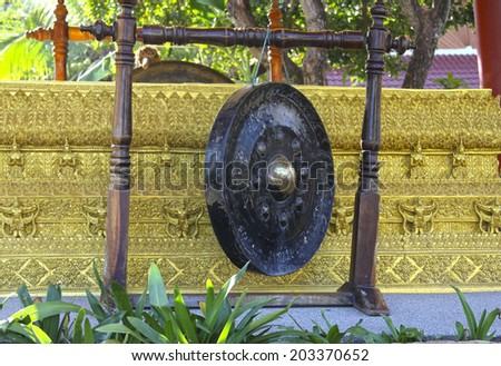 Wat Plai Laem temple-Samui-Thailand. Gong - stock photo