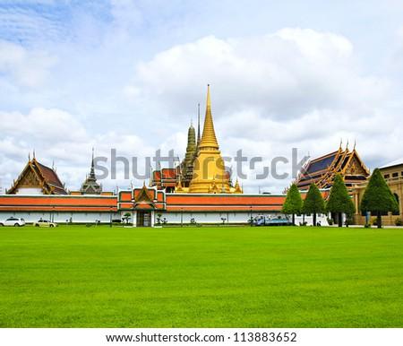 Wat pra kaew, Grand palace ,Bangkok,Thailand. - stock photo