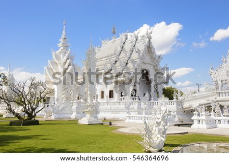 Wat Rong Khun white temple in Thailand