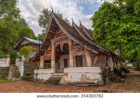 Wat Siphoutthabath old temple in Luang Prabang, Laos - stock photo