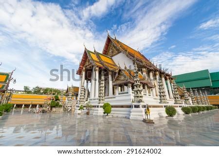 Wat Suthat Thepwararam Bangkok, Thailand - stock photo