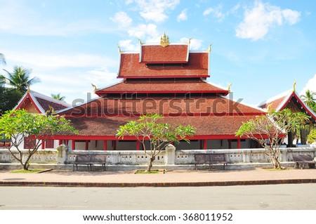 Wat (Temple) Mai Suwannaphumaham, Luang Prabang, Laos - stock photo