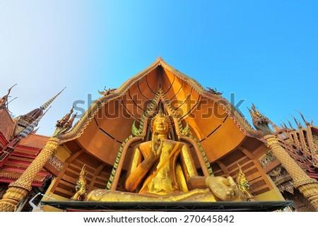 Wat Thum Sua, Kanchanaburi Province, Thailand - stock photo