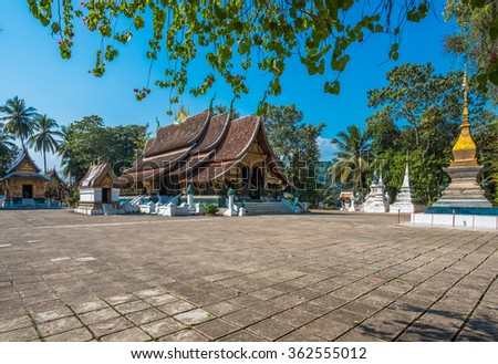 Wat Xieng thong,Luang Prabang, Laos - stock photo