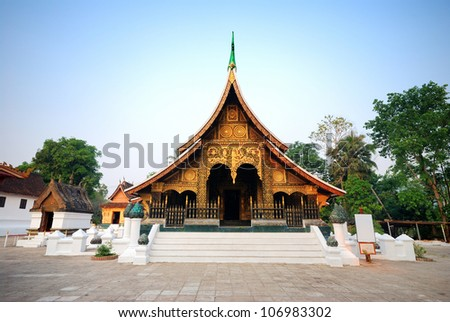 wat Xieng Thong,luangprabang,laos - stock photo