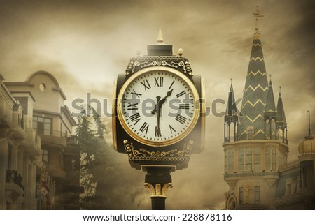 Watch and Ghost City - stock photo