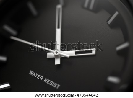 Watch, chronograph close-up