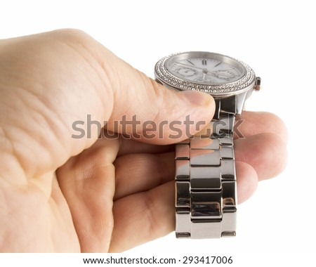 Watch handheld isolated on white background