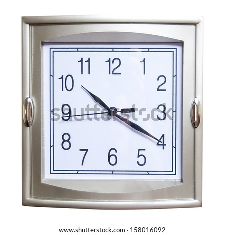 Watch meant a wall isolated on a white background - stock photo