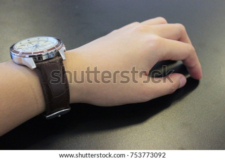 watch on a men's hand