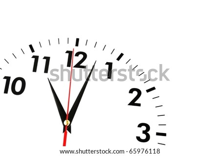 watch or clock isolated on white background showing time or businss concept - stock photo