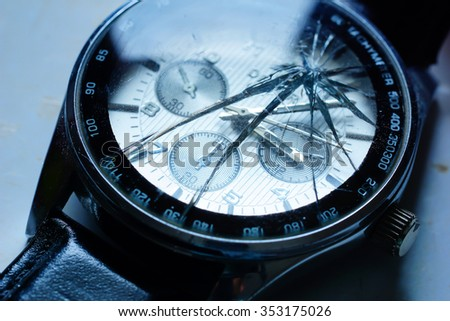 Watch the cracks : This image was intended to have a shallow depth : This is suitable for use in technology.  - stock photo
