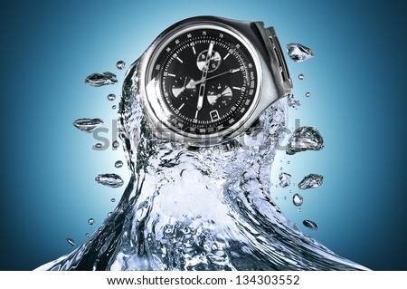 Watch water resistant - stock photo