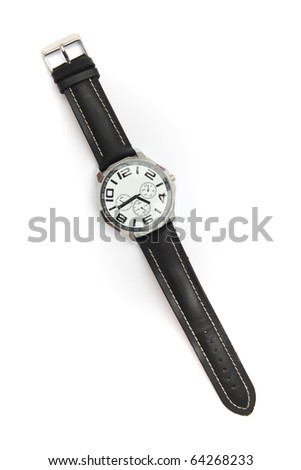 Watches isolated on white background - stock photo