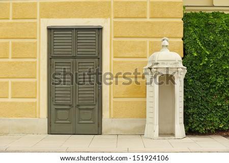 watchtower and door in Sch�¶nbrunn Palace in Vienna, Austria - stock photo