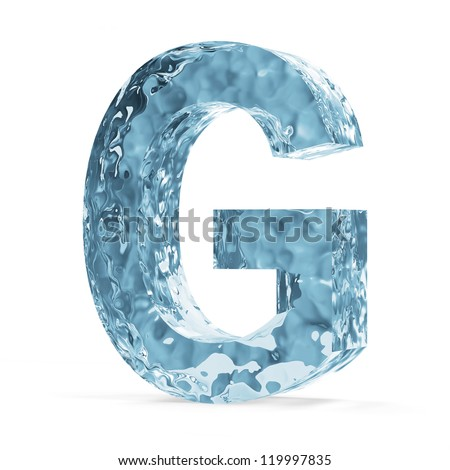 Water alphabet isolated on white background stock illustration water alphabet isolated on white background letter g altavistaventures Images