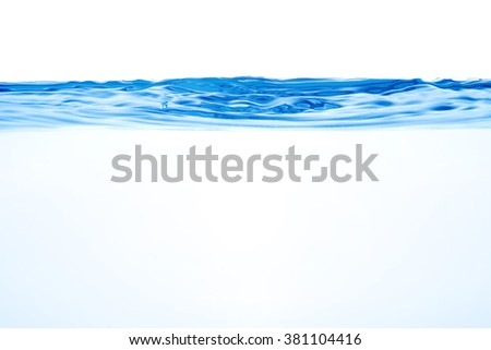 Water and air bubbles over white background - stock photo