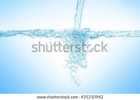 Water and air bubbles,Water,water splash isolated on white background