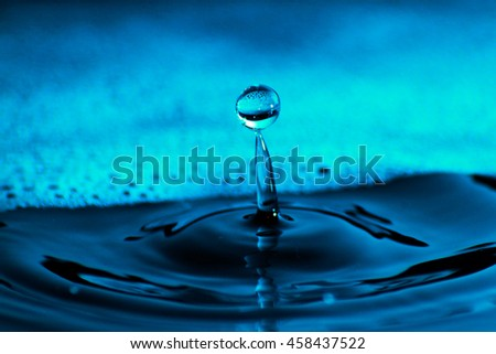 Water as background