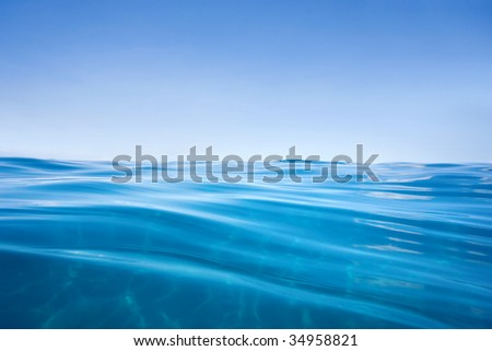 water background calm and clear in maui, hawaii - stock photo