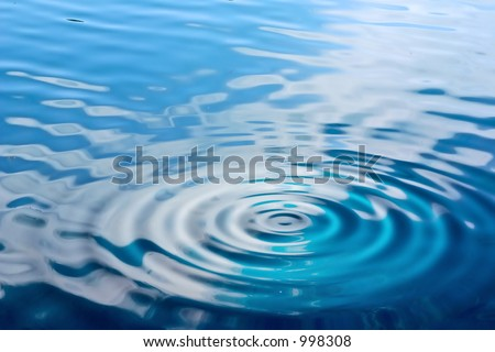 water background with ripples - stock photo