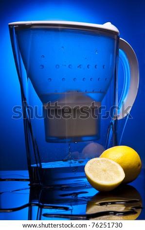water blue limon objekt clean - stock photo