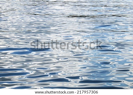 Water blue surface