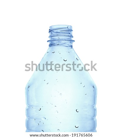 Water bottle against white background. Clipping path - stock photo