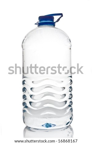 water bottle 1 gallon on white background