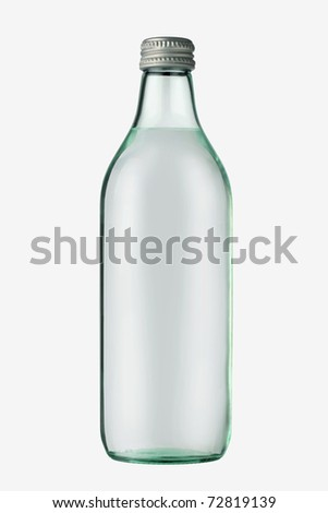 Water bottle, Isolated on white - stock photo